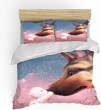 BFKJQ Duvet Cover Single Size 3D Printed Baby And