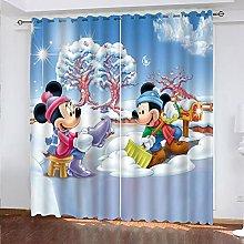 Bfrdollf Disney Mickey Mouse Blackout Curtain,