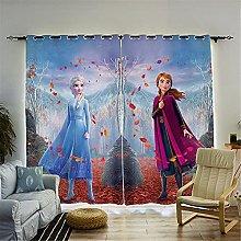 Bfrdollf Frozen Elsa Disney Blackout Curtain,