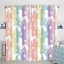 Bfrdollf Girls Bedroom Unicorn Blackout Curtain