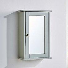 BFW Grey Bathroom Cabinet Wall Mounted Single