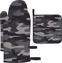 Bgejkos Gray Camouflage Print Military Stylish