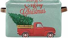 BGIFT Storage Basket Christmas Xmas Snowflake Tree