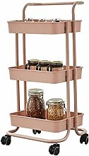 BGROESTWB Rolling Cart Rolling Storage Cart,3 Tier