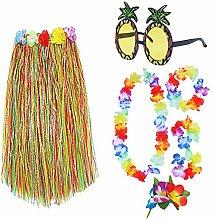BHAHAI 7 Pieces/set Hawaiian Hula Grass Skirt