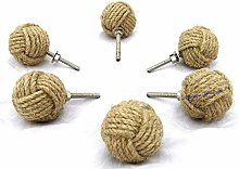 Bhartiya Handicrafts Jute Drawer knobs Cupboard