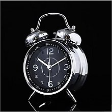 """BHDCH 4"""" Twin Bell Alarm Clock Battery Operated,"""