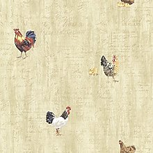 BHF CTR64213 Lisle Wheat Roosters & Script