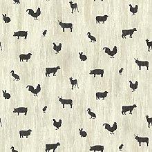 BHF CTR64253 Farnhan Black Animal Toss Wallpaper