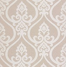BHF DL22800 Antalia Beige Nouveau Damask Wallpaper