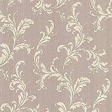 BHF FD20308 Acanthus Scroll Mauve Wallpaper