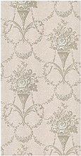 BHF FD20345 Bouquet Damask Taupe Wallpaper