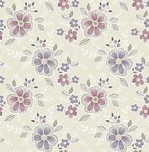 BHF FD22203 Ami Chloe Purple Floral Wallpaper
