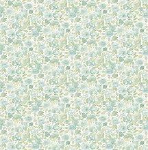 BHF FD22216 Ami Elsie Green Floral Wallpaper, Teal