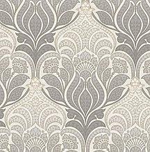 BHF FD22428 Kj Azmaara Twill Charcoal Wallpaper