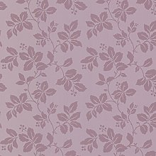 BHF FD68768 Claremont Rose Leaf Purple Wallpaper