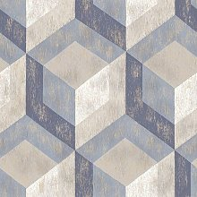 BHF - Rustic Wooden Tile Geometric Wallpaper Paste