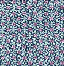 BHF SZ001822 Kismet Fly Indigo Floral Wallpaper