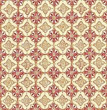 BHF SZ001853 Kismet Soul Red Quatrefoil Wallpaper
