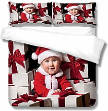 BHFCBD Bedding Christmas Baby Printed Duvet Cover