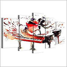 BHJIO Print Painting Canvas 5 Pieces Canvas Wall
