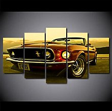 BHJIO Wall Art Pictures 5 Panel Print On Canvas