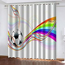 BHOMLY Blackout Curtains For Bedroom 3D Colorful