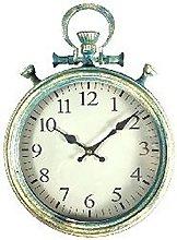 BHP Vintage Wall Clock Iron Antique Blue Living