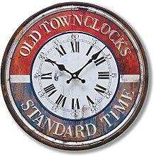 BHP Wall Clock, Blue, 40x2,5x40 cm
