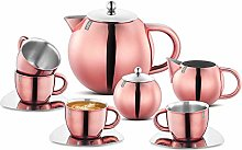 Bhuvika Stainless Steel Tea Set with Double Wall