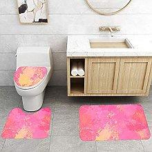 BHXXMGG 3 Pieces Bathroom Rugs Anti-Slip Bath Rug
