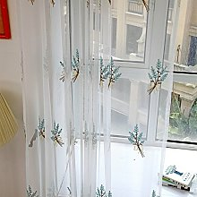 BHYDRY Bouquet Curtain, Tulle Window Treatment