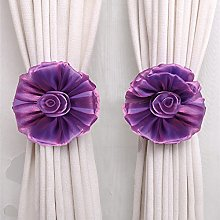 BHYDRY Curtain Tie Back Single Clip-On Flower