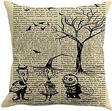 BHYDRY Halloween 45cmX45cm Pillow Cases Happy Fall