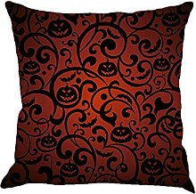 BHYDRY Halloween Cushion Cover Linen Pillow Cases