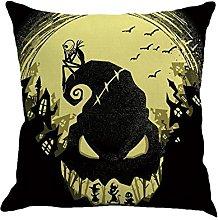 BHYDRY Halloween Pillow Cases Linen Sofa Cushion
