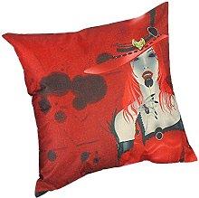 BHYDRY Halloween Print Pillow Cases Flax Cushion