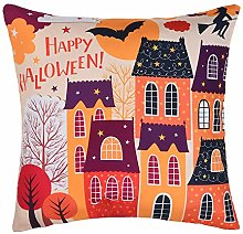 BHYDRY Halloween Print Pillow Cases Polyester