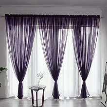 BHYDRY Solid Color Curtain, Sheer Tulle Window