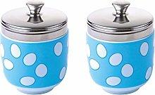 BIA - Porcelain Egg Coddler I Set of 2 Blue Egg