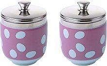 BIA - Porcelain Egg Coddler I Set of 2 Pink Egg