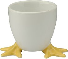 BIA Set of 6 Chicken Feet Egg Cups with Yellow Fee