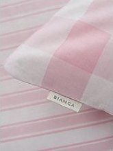 Bianca Fine Linens Bianca Pink Check Cotton Fitted