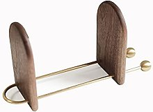 BIAOYU Adjustable Bookends, Wooden Book Ends for