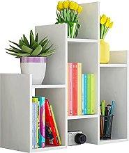 BIAOYU Desktop Bookshelf Desk Storage Organizer