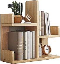 BIAOYU Desktop Bookshelf Office Small Desk Storage