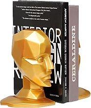 BIAOYU Head Bookends Decorative Book Holder Modern