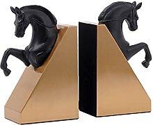 BIAOYU Horse Bookends Decorative Book Holder