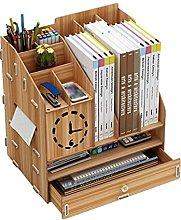 BIAOYU Multi-function Desktop Bookshelf Wood