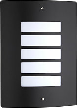 Biard Modern Black Curved Grill Outdoor Wall Light
